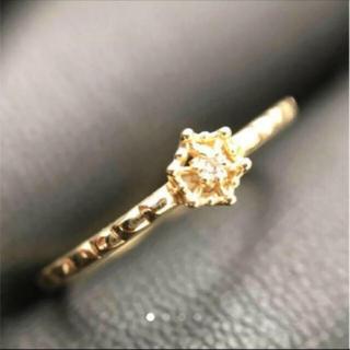 アガット(agete)の大特価  美品!アガットk10ダイヤモンドリング(リング(指輪))