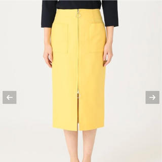 ノーブル(Noble)のノーブル T/Cダブルクロスフープジップタイトスカート 36(ひざ丈スカート)