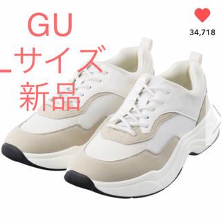ジーユー(GU)の新品 GU ダッドスニーカー ホワイト(スニーカー)