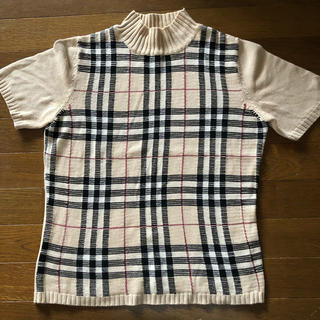 バーバリー(BURBERRY)のバーバリー 半袖セーター(ニット/セーター)