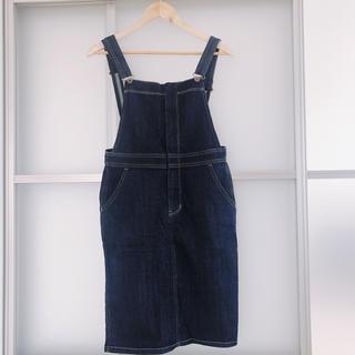 フリーズマート(FREE'S MART)のデニムオーバーオール サロペットスカート(ひざ丈スカート)