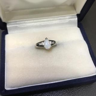 洗浄済み 美品 Pt850 オパール ダイヤモンド プラチナリング(リング(指輪))