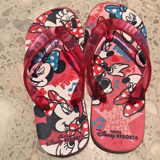 ディズニー(Disney)のミニーちゃん サンダル ビーサン ディズニー 子供 18-19cm(ビーチサンダル)
