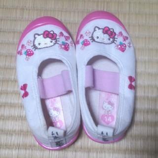 キティちゃん上靴上履きシューズ 14cm(バレエシューズ)