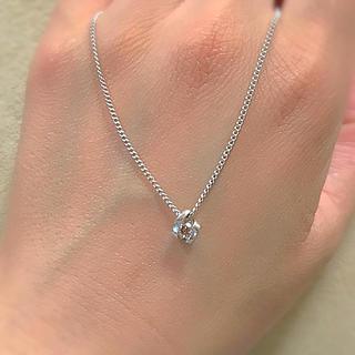 ヨンドシー(4℃)の4℃ シルバー ネックレス ダイヤモンド 1粒 ブラウンダイヤ(ネックレス)