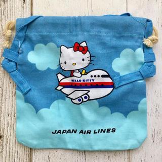 ジャル(ニホンコウクウ)(JAL(日本航空))の日本航空 JAL 1980年代 ハローキティ ミニポーチ 未使用 極美品 レア☆(ノベルティグッズ)