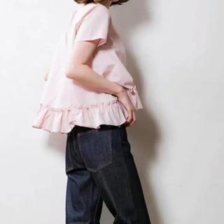 エンフォルド(ENFOLD)のsono ソーノ フリルブラウス ピンク 美品(シャツ/ブラウス(半袖/袖なし))