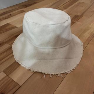 ザラ(ZARA)のZARA カットオフ仕上げ オーバーサイズハット(帽子)