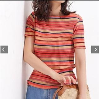 ナノユニバース(nano・universe)のマルチカラーボーダーリブTシャツ(Tシャツ(半袖/袖なし))