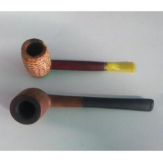 タバコ パイプ 2本セット 喫煙具 アンティーク インテリア(タバコグッズ)