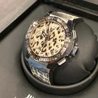ウブロ(HUBLOT)のHUBLOT ウブロ ビッグバン スノーレオパード 世界限定500本 美品 (腕時計)