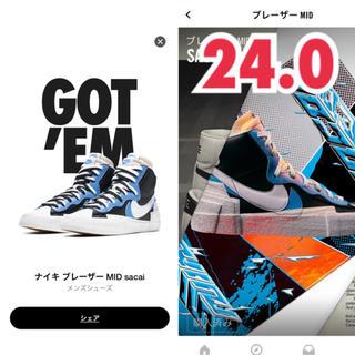 ナイキ(NIKE)のNike x Sacai Blazer Mid 24.0cm(スニーカー)