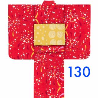 ツモリチサト(TSUMORI CHISATO)の130 新品 未使用 ツモリ ツモリチサト 浴衣 キッズ (甚平/浴衣)