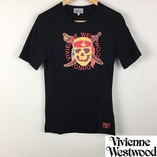 ヴィヴィアンウエストウッド(Vivienne Westwood)の美品 ヴィヴィアンウエストウッドマン 半袖Tシャツ ブラックS(Tシャツ/カットソー(半袖/袖なし))