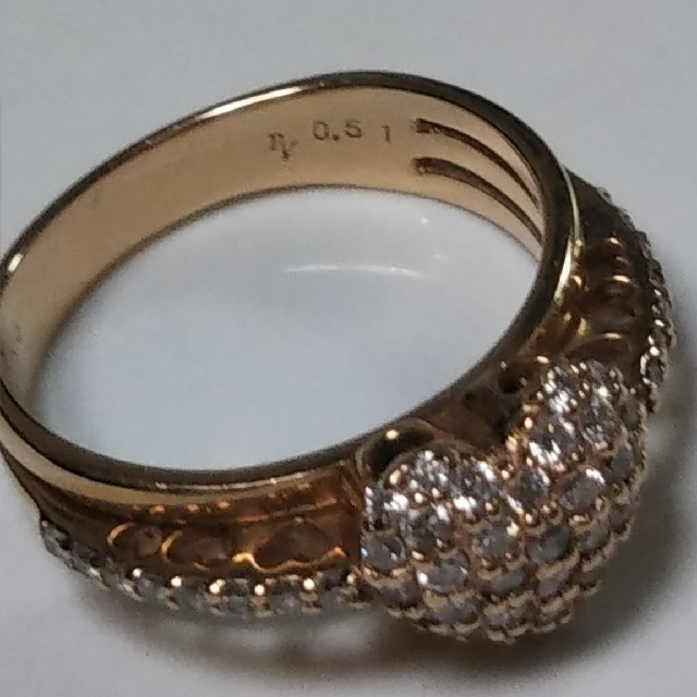 PonteVecchio(ポンテヴェキオ)のポンテヴェキオ  ハートパヴェダイヤ  K18リング レディースのアクセサリー(リング(指輪))の商品写真
