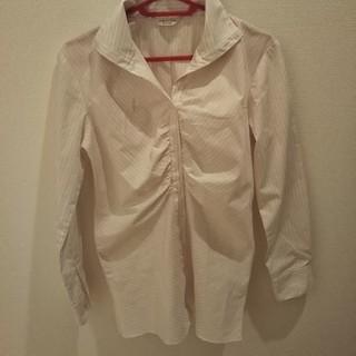 オリヒカ(ORIHICA)のORIHICA ピンクストライプシャツ(シャツ/ブラウス(長袖/七分))