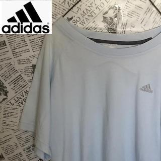 アディダス(adidas)の【激レア】アディダス adidas Tシャツ ライトブルー ヴィンテージ(Tシャツ/カットソー(半袖/袖なし))