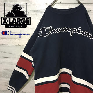 Champion - 【超激レア】チャンピオン×エクストララージ☆コラボ ビッグロゴ スウェット