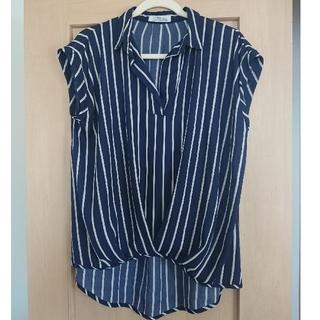 シマムラ(しまむら)のストライプ ノースリーブシャツ(カットソー(半袖/袖なし))