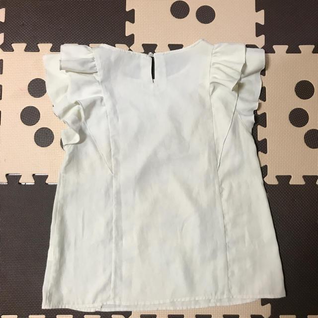 marble ink(マーブルインク)の肩フリル ブラウス レディースのトップス(シャツ/ブラウス(半袖/袖なし))の商品写真