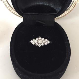 美品 プラチナ900 ダイアモンド0.5ct VSクラス ブラウンダイヤ リング(リング(指輪))