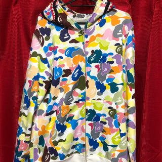 A BATHING APE - A BATHING APE shark multi camo シャークパーカー