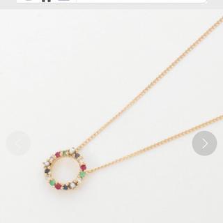 アーカー(AHKAH)のリトルエンブレム 6.5万円 18K カラーリースゴールドネックレス 美品(ネックレス)