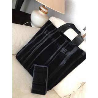 ディーゼル(DIESEL)の洗練されたデザイン ①トートバック ②長財布 2点セット ブラック(トートバッグ)