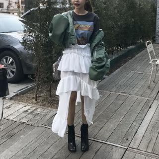 STYLENANDA - STYLENANDA スタイルナンダ 不規則 アシンメトリー スカート フリル