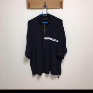 ハレ(HARE)のessay  ハーフジップシャツ   ネイビー(Tシャツ/カットソー(七分/長袖))