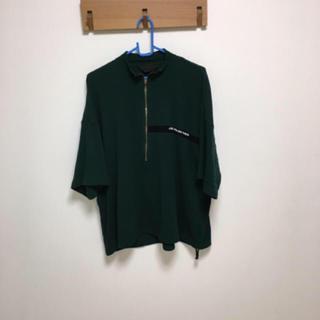 ハレ(HARE)のessay   ハーフジップシャツ   グリーン(Tシャツ/カットソー(七分/長袖))