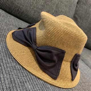 バーニーズニューヨーク(BARNEYS NEW YORK)のアシーナニューヨークガール 麦わら帽子(帽子)