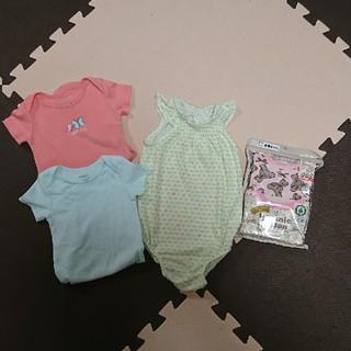 ベビーギャップ(babyGAP)の半袖&ノースリーブロンパース セット 70 新品あり(ロンパース)