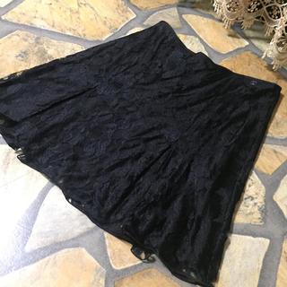 シャネル(CHANEL)のシャネル CHANEL 06A 繊細総レース フレアスカート 38(ミニスカート)