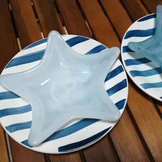 フランフラン(Francfranc)の星型皿 ボーダー皿 各二枚(食器)