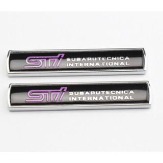 【新品】SUBARU スバル STIロゴ 3Dエンブレムステッカー 色:ブラック