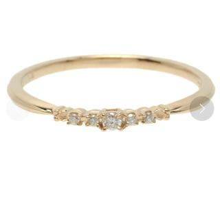 アガット(agete)のアガット K10 ダイヤモンドリング 7号(リング(指輪))
