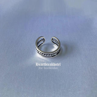 ❤︎ Vintage Silver Multilayer Ring(リング(指輪))