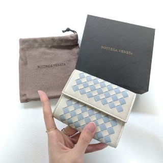 Bottega Veneta - 【新品・レア】Bottega Veneta バイカラー チェック 二つ折り財布