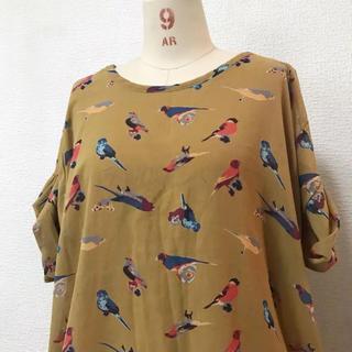 アーモワールカプリス(armoire caprice)のblush 鳥柄トップス(カットソー(半袖/袖なし))