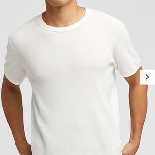 ユニクロ(UNIQLO)の【送料無料!】UNIQLO クルーネックワッフルTシャツ(Tシャツ/カットソー(七分/長袖))
