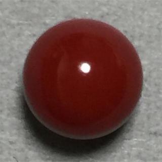 f43 天然 煌 血赤本珊瑚 片穴 7.34 mm2.65 ct 0.53g(リング(指輪))