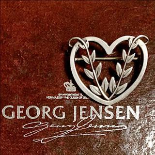Georg Jensen - ★希少★ ジョージジェンセン ハート ブローチ    # 242 B