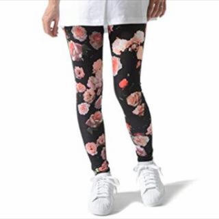 アディダス(adidas)のadidas♡レギンス 花柄 フラワー 薔薇柄 バラ(レギンス/スパッツ)