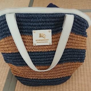バーバリーブルーレーベル(BURBERRY BLUE LABEL)のバーバリーブルーレーベルバッグ(かごバッグ/ストローバッグ)