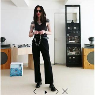 サンシー(SUNSEA)のsunsea 18ss TEKE TEKE pants ブラック(スラックス)