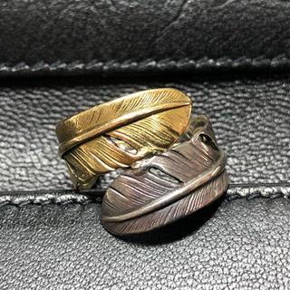 ゴローズ(goro's)のgoro's ダブルフェザーリング 18k コンビ ゴローズ(リング(指輪))