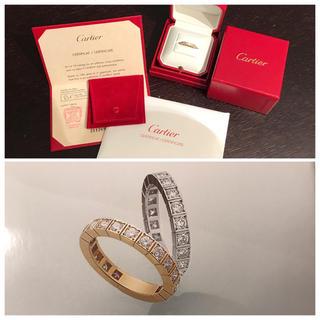 カルティエ(Cartier)の極美品80万!カルティエラニエール18KYG フルダイアリング(リング(指輪))