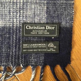 クリスチャンディオール(Christian Dior)のクリスチャンディオール マフラー『英国製』(マフラー)