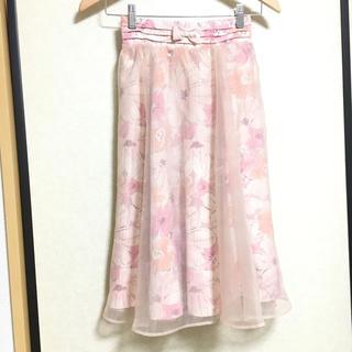 リズリサ(LIZ LISA)のLIZLISA 花柄オーガンジースカート(ひざ丈スカート)